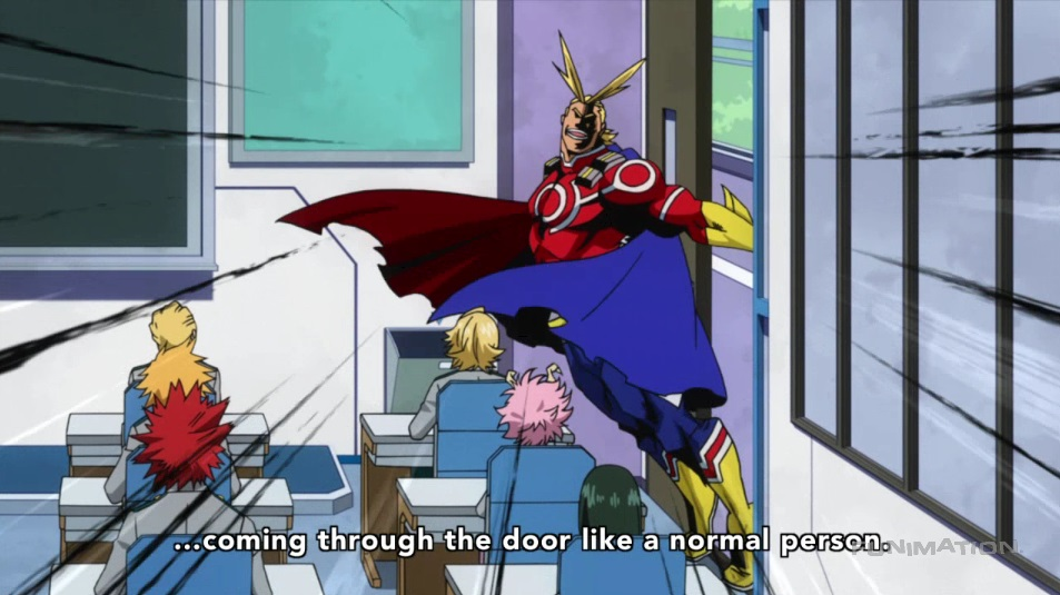 All Might Entrance