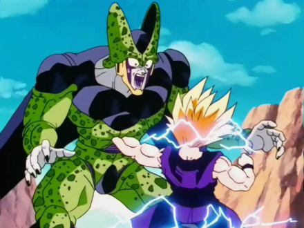 Image result for cell vs gohan
